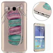 CaseHome Compatible for Samsung Galaxy J7 2016 Coque Silicone de Gel [Gratuit Protections D'écran], Clear Ultra Slim Transparente Antichoc Doux Protec