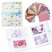 Shaveh 64 Pockets Photo Album pour Mini Fujifilm Instax Mini 8 7s 25 50s 90 Polaroid et carte de noms (Libellules)