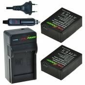 ChiliPower AHDBT-201, AHDBT-301-301, AHDBT-302 302 Kit : 2 x Batterie + Chargeur pour GoPro Hero 3, GoPro HD HERO3, HERO3 +