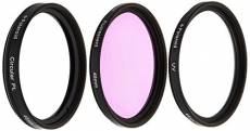 Polaroid Optics Ensemble de 3 filtres 46 mm (UV, CPL, FLD)