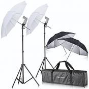Neewer Off Camera double Flash Speedlight Chaussure support pivotant souple Parapluie kit pour Canon 430EX II, 580EX II, 600EX-RT, Nikon SB600 SB800 SB900, Youngnuo YN 560, YN 565, Neewer Tt560, Tt680, TT850, Tt860