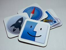 Mac Os X Yosemite application Dessous de Verre, Lot de 4 (Finder, Housse de Protection, Safari et lettres)
