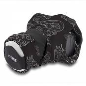 Miggo Grip & Wrap de Miggo Sangle pour Appareil photo Reflex Motif Papillons Noir