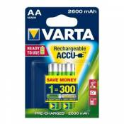 Varta Batterie rechargeable AA Mignon 2 2600 mAh (Protection contre la décharge)