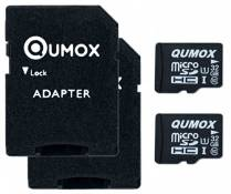 2pcs Pack QUMOX 32GB MICRO SD MEMORY CARD CLASS 10 UHS-I 32 GB 32Go Go carte mémoire HighSpeed Write Speed 15MB/S read speed upto 70MB/S