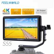 Generic FEELWORLD S55 5.5 Inch IP-S DSLR Camera Field Monitor 4K HDMI DC Output for Sony
