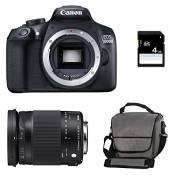 CANON EOS 1300D + SIGMA 18-300 OS Contemporary + Sac + Carte SD 4Go