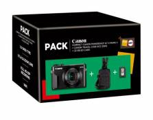 Pack Fnac Appareil photo Compact Canon PowerShot G7X Mark II + Etui + Carte mémoire SD 32 Go