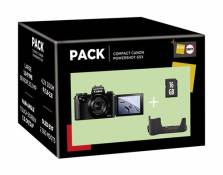 Pack Fnac Appareil photo compact Canon PowerShot G5X + Etui + Carte de mémoire SD 16 Go