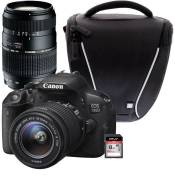 CANON EOS 700D + 18-55 IS STM + TAMRON 70-300mm + Sacoche + Carte 8 Go