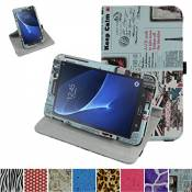 """GALAXY TAB A 7.0 Rotating Coque,Mama Mouth 360 Degree Rotating PU Cuir debout Fonction Housse Coque Étui Couverture pour 7\"""" SAMSUNG GALAXY TAB A 7.0 T280 T285 Android Tablet,Journal"""