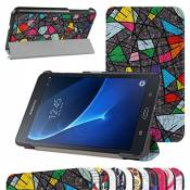 """GALAXY TAB A 7.0 Ultra Slim Coque,Mama Mouth Ultra Slim PU Cuir debout Fonction Housse Coque Étui Couverture pour 7\"""" SAMSUNG GALAXY TAB A 7.0 T280 T285 Android Tablet,Church window"""