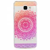KSHOP Etui cas TPU silicone pour Samsung Galaxy A3(2016)A310 Coque Case Cover Housse de protection Shell avec mince motif d'impression - iindisches Holy Flower Mandala Rose