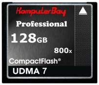 Carte Komputerbay 128 Go Compact Flash Professional CF 800X écrire 75 Mo/s en lecture 120 Mo/s Extremespeed UDMA 7 RAW 128 Go