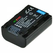 ChiliPower Sony NP-FH50, NP-FH40, NP-FH30 Batterie (800mAh) pour Sony Alpha DSLR-A290, DSLR-A330, DSLR-A390, Cyber-shot DSC-HX1, DSC-HX100V, DSC-HX200V, DCR-DVD108, DCR-DVD308, DCR-DVD808, DCR-DVD810, DCR-DVD905, DCR-SR47, HDR-CX100, HDR-TG1, HDR-TG3, HDR-TG5V, HDR-UX7E, HDR-UX9E