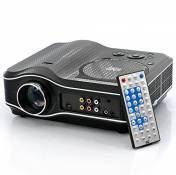 High-Tech Place Projecteur multimédia, lecteur DVD, Carte SD et port USB