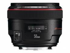 Canon EF - Objectif - 50 mm - f/1.2 L USM - Canon EF - pour EOS 1000, 1D, 50, 500, 5D, 7D, Kiss F, Kiss X2, Kiss X3, Rebel T1i, Rebel XS, Rebel XSi
