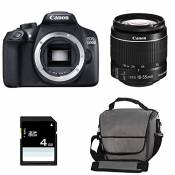 CANON EOS 1300D + 18-55 IS II + Sac + Carte SD 4Go