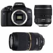 CANON EOS 750D + 15-85 IS + TAMRON 70-300 VC USD