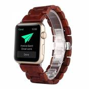 2016 Bracelet en bois Apple Watch, Bracelet AIYIBEN Bracelet Bracelet en bois Bracelet pour Apple iWatch Sport & Edition (38MM, Red)