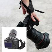 Andoer®PU main Poignée Bracelet Courroie Dragonne Sangle Reflex Grip Dragonne Accessoires Photographie pour Camera Photo Canon Nikon Sony Pentax