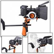 Support Epaule Kit Rail Système Grip Follow Focus Mise au Point / Epaulière Crosse Photo Vidéo
