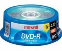 Maxell 638006 DVD-R 4.7GB Write-Once 16x Recordable Disc Spindle 15PK