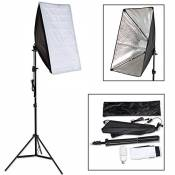 TecTake Boite Lumière Softbox env. 40 Watt 5500K pour Flash Studio Photo Video