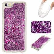 coque iphone se coque iphone 5 coque iphone 5s silicone MUTOUREN Housse Coque Etui Gel Silicone Tpu Lisse Transparent Pour Apple iphone se coque iphone 5 coque iphone 5s -sables mouvants 01