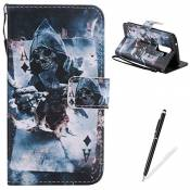 Feeltech LG K10 Coque Protection PU Case for LG K10-Poker