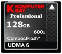 Komputerbay 128Go Professional Compact Flash Carte CF 600 X 90MB/s Extreme Speed UDMA 6 RAW 128 Go