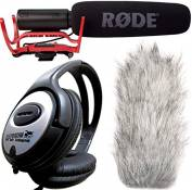 Rode Rycote VideoMic directionnel + Bonnette anti-vent DeadCat keepdrum Casque