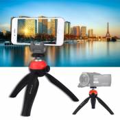 PULUZ Pocket Mini Tripod Mount with 360 Degree Ball Head for Smartphones, GoPro, DSLR Cameras(Red)