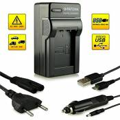 4in1 Chargeur NP-BX1 pour Sony CyberShot DSC-HX50 / HX50V | DSC-HX300 | DSC-RX1 / DSC-RX1R | DSC-RX100 / DSC-RX100 II | DSC-WX300 | HDR-AS15 | HDR-GW6