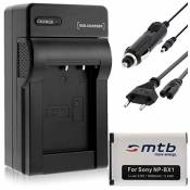 Batterie NP-BX1 + Chargeur pour Sony Cyber-shot DSC-H400, HX50, HX80, HX50, HX80V, HX60, HX60V, HX90, HX90V, HX300...
