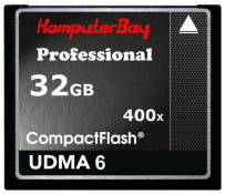 Komputerbay 32GB Professional CARTE COMPACT FLASH CF 400X WRITE 30 Mo/s en lecture de 60 Mo/s Extreme Speed ​​UDMA 6 RAW 32 Go