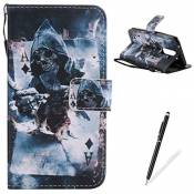 Feeltech LG K7 Coque Protection PU Case for LG K7-Poker
