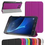 """GALAXY TAB A 7.0 Ultra Slim Coque,Mama Mouth Ultra Slim PU Cuir debout Fonction Housse Coque Étui Couverture pour 7\"""" SAMSUNG GALAXY TAB A 7.0 T280 T285 Android Tablet,Violet"""