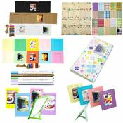 Katia Instax Mini 8 Accessoires - Instax Mini livre album - Instax Mini 8 Correa - Cadre Instax Mini Photo - instax Film autocollant Frontera - cadres décorations pour les murs - photo Plumas Set 14 - Clover