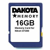 16GB Memory Card for Nikon D7200