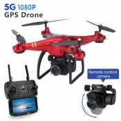 Drone ATOUP G8, Caméra Grand Angle 1080p - 3 batteries - Rouge