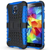 Ykooe Galaxy s5 Coque,s5 Coque (Armor Séries) Silicone Anti Choc avec Béquille Housse Etui pour Samsung Galaxy S5 (Bleu)
