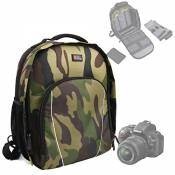 "DURAGADGET Sac à dos ""camouflage"" pour appareils photo Nikon DF, D5300 & D3300 et Sony DSC-HX400 / HX400V, DSC-RX10M3 / RX10 III, Sony DSC-RX10 II, DS"