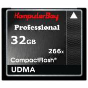 Komputerbay 32Go High Speed Compact Flash CF 266X Ultra Speed carte à haute 36 Mo/s en écriture et 37 Mo/s Lire UDMA