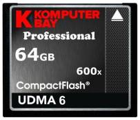 Komputerbay 64Go Professional Compact Flash Carte CF 600 X 90MB/s Extreme Speed UDMA 6 RAW 64 Go