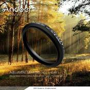 Andoer® 62mm ND Fader densité neutre ND2 réglable à Nd400 filtre variable pour Canon Nikon DSLR