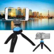 PULUZ Pocket Mini Tripod Mount with 360 Degree Ball Head for Smartphones, GoPro, DSLR Cameras(Blue)