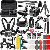 Neewer 50-En-1 Kit d'Accessoires d'Appareil Photo d'Action pour GoPro Hero 4/5 Session, Hero 1/2/3/3 + / 4/5, SJ4000 / 5000, Nikon et Sony Sports DV d