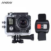 "Andoer 4K 30fps / 1080P Full HD 60fps 16MP Action Camera 30m Etanche WiFi 2.0 ""LCD Sport DV Cam Camcorder 170 Degree 4X Zoom Dual Screen voiture DVR w"