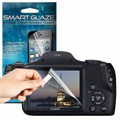 "Aventus SmartGlaze ( Pack Of 10 ) Canon Powershot SX530 HS Digital 3"" Camera Case Protective Elegant Crystal Clear Premium LCD Screen Protectors Packs"